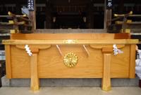 大神神社 拝殿賽銭箱